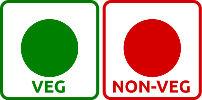 simbol vegetarian nonvegetarian_